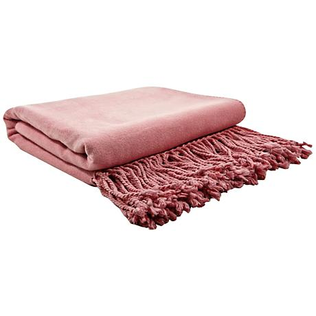 Pink Blush Bamboo Throw Blanket