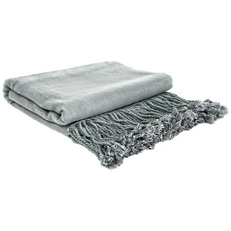 Steel Bamboo Throw Blanket