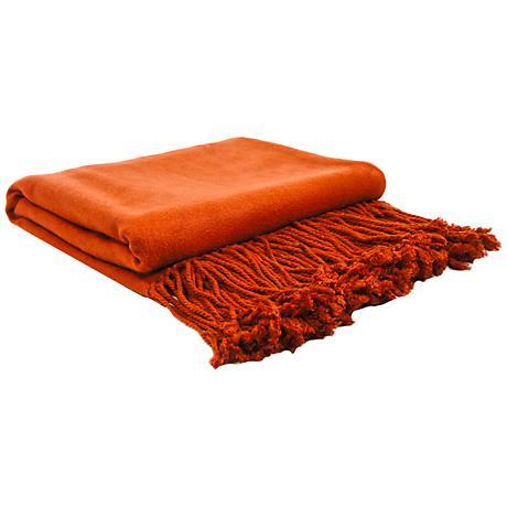 Terra Cotta Bamboo Throw Blanket