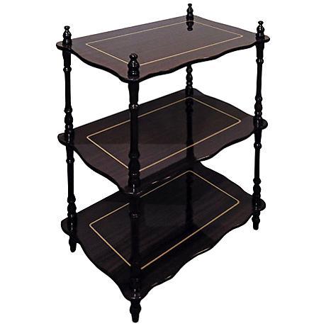 Vandecar Cherry 3-Tier Shelves