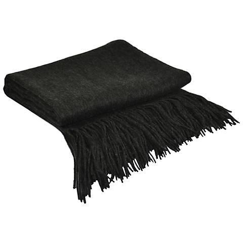 Dark Heather Grey Signature Cashmere Blend Throw Blanket