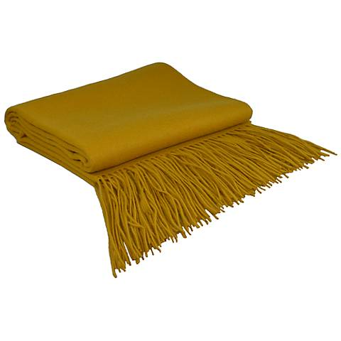Mineral Yellow Signature Cashmere Blend Throw Blanket