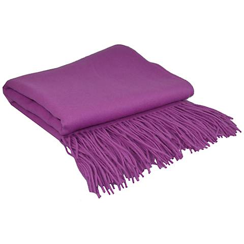 Orchid Signature Cashmere Blend Throw Blanket