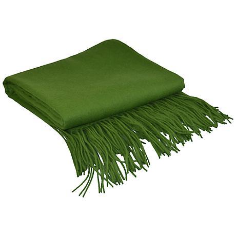 Wheatgrass Signature Cashmere Blend Throw Blanket