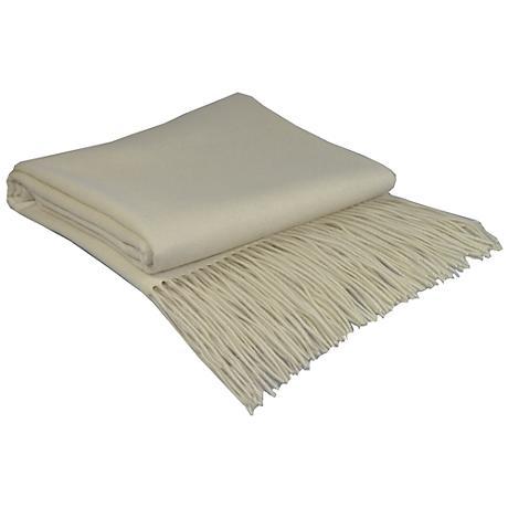 White Signature Cashmere Blend Throw Blanket