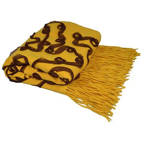 Honeysuckle Cashmere Blend Chiffon Throw Blanket