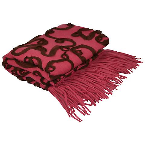 Mimosa Embellished Cashmere Blend Chiffon Throw Blanket