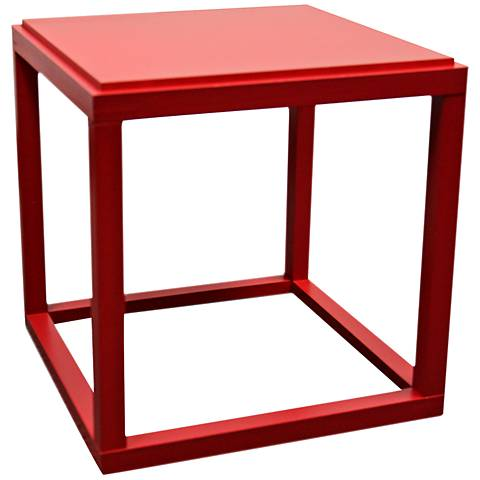 Kylie Red Stackable Cube Table