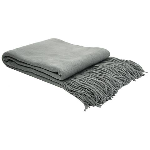 Dream On Charcoal Gray Knit Throw Blanket