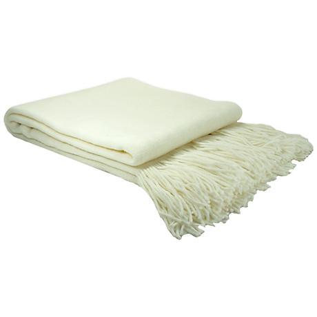 Dream On Light Creme Knit Throw Blanket