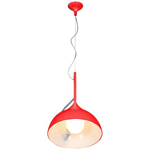 "Magneto 13 3/4"" Wide Red Metal Pendant Light"