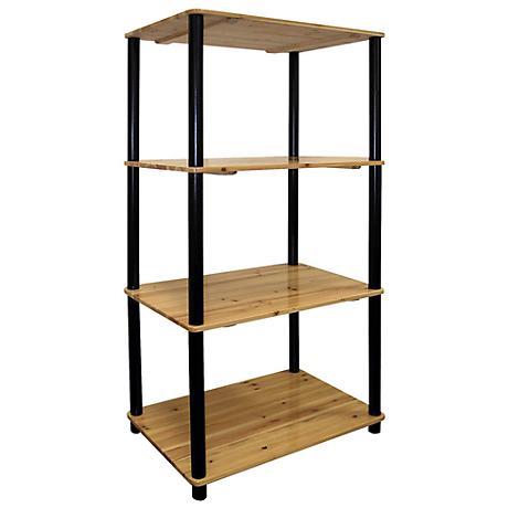 Akerman Natural Oak 4-Tier Bookshelf