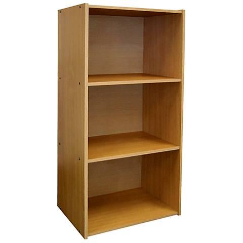 Elsinger 3-Shelf Natural Oak Bookshelf