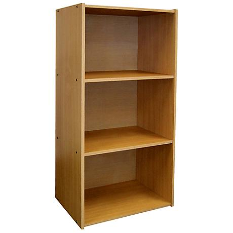 Elsinger 3-Shelf Natural Oak Bookshelf