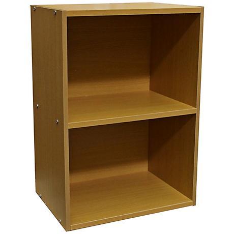 Elsinger 2-Shelf Natural Oak Bookshelf