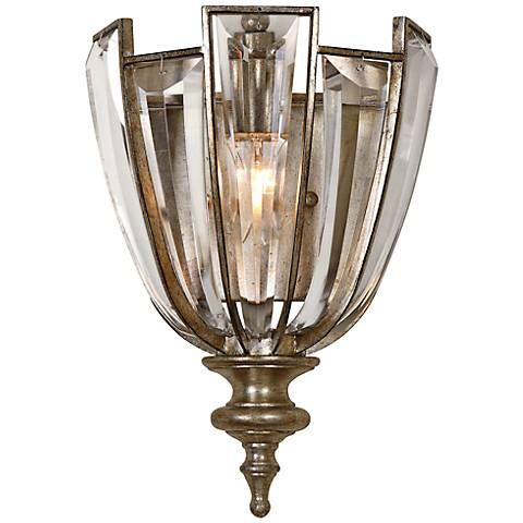 "Uttermost Vicentina 12 3/4"" High Silver Wall Sconce"