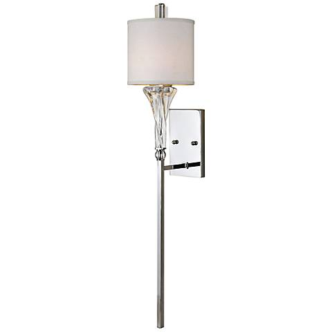 "Uttermost Grancona 46"" High Polished Chrome Wall Sconce"