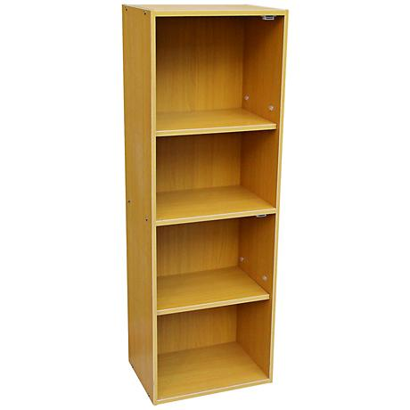 Cornutt Adjustable 4-Shelf Natural Oak Bookshelf