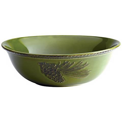 """Bonjour Dinnerware Sierre Pine Forest 10"""" Bowl"""
