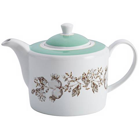BonJour Dinnerware Fruitful Nectar Porcelain Teapot