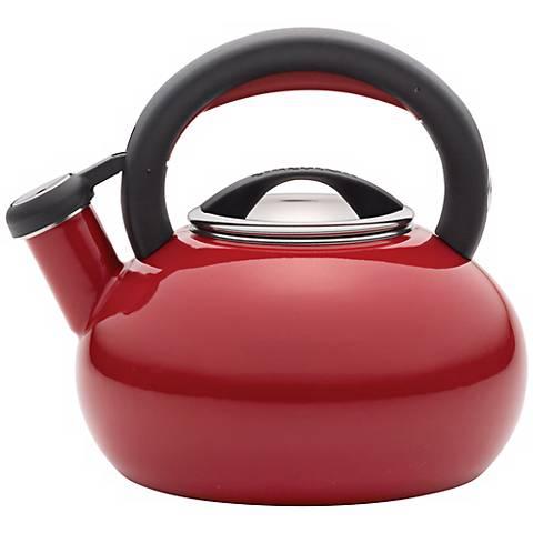 Circulon Teakettle 1 1/2-Quart Sunrise Deep Red Teakettle
