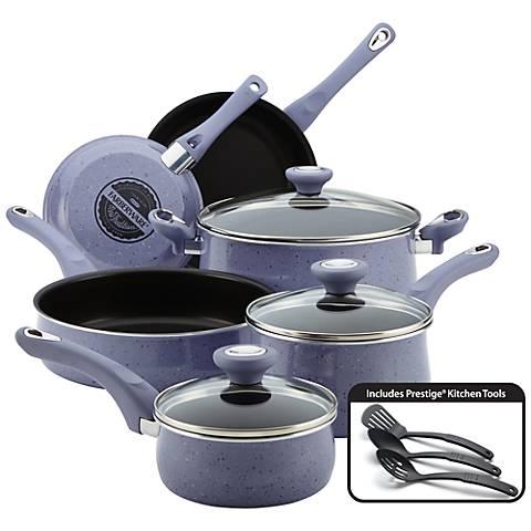 Farberware Lavender Black 12-Piece Nonstick Cookware Set