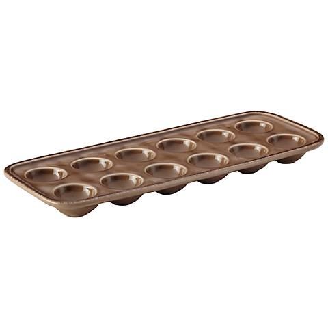 Rachael Ray Cucina Mushroom Brown Stoneware Egg Tray