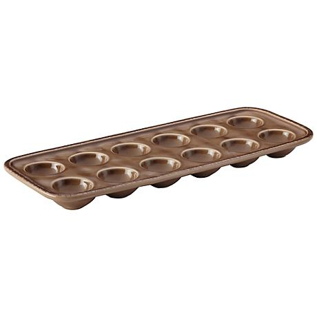 Rachael Ray Cucina Mushroom Brown Stoneware Egg Tray