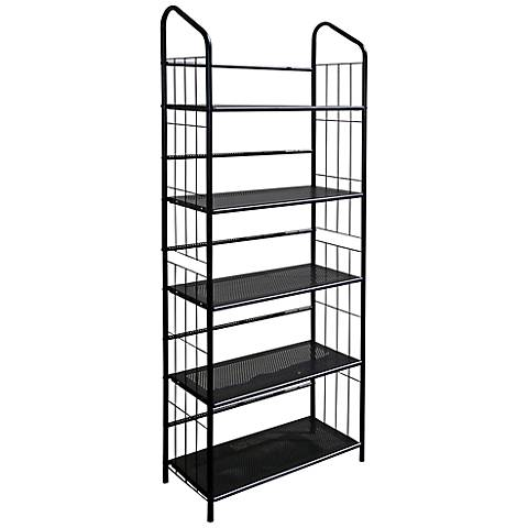 Meyers Black 5-Tier Metal Bookshelf