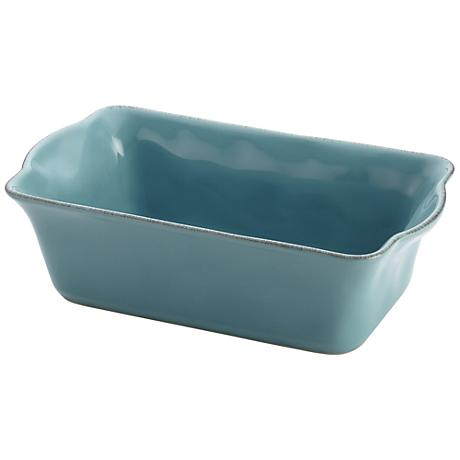 """Rachael Ray Cucina Agave Blue 9"""" x 5"""" Stoneware Loaf Pan"""