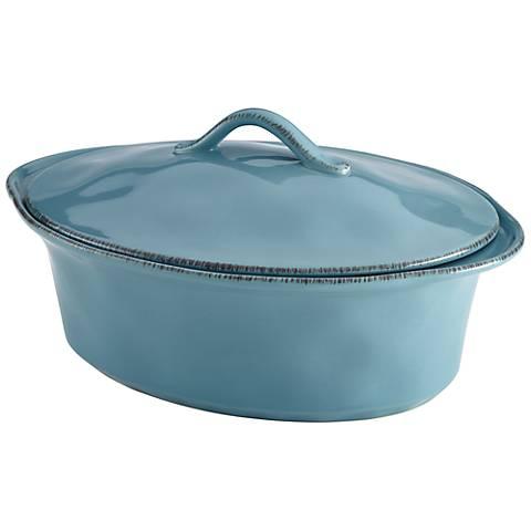 Rachael Ray Cucina Agave Blue 3 1/2-Quart Oval Casserole