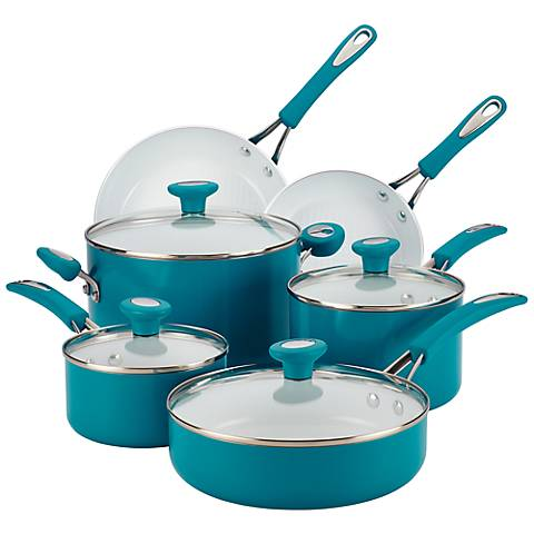 SilverStone Marine Blue Ceramic 12-Piece Cookware Set