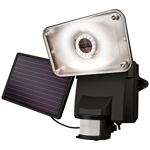 Black Motion-Activated Solar LED Security Light