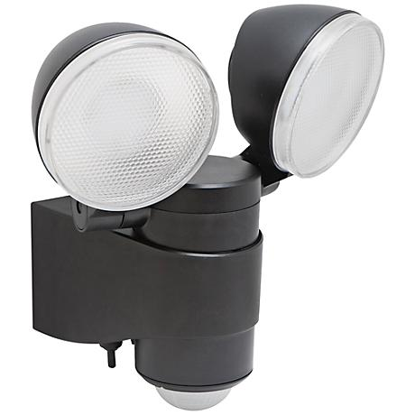 """Motion Activated Black 6"""" High 2-Light LED Security Light"""