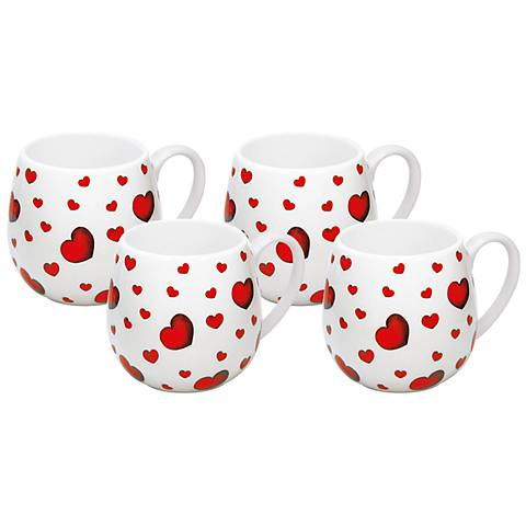 Little Heart Snuggle Mug Set of 4
