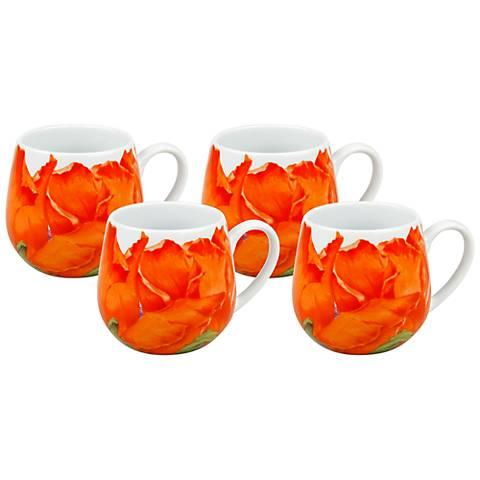 Poppy Blossom Snuggle Mugs Set of 4