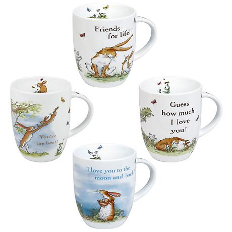 "Assorted ""Guess How Much I Love You!"" Mugs Set of 4"