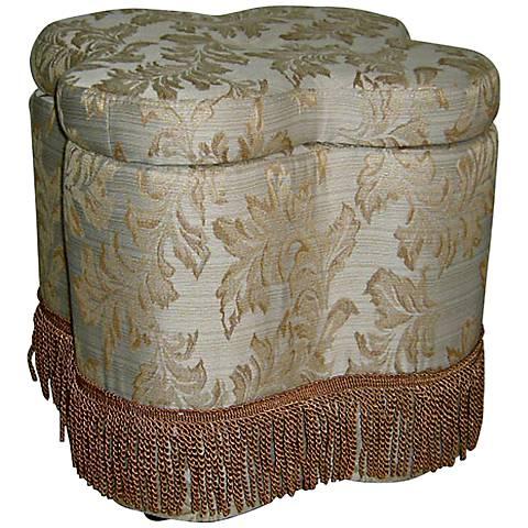 Terranella Luxurious Floral Storage Ottoman