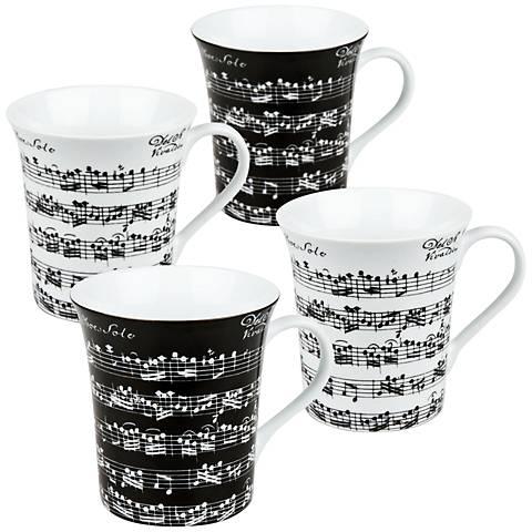 Assorted Vivaldi Libretto Mugs Set of 4