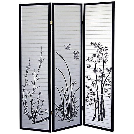 Scenery Shoji Paper 3-Panel Room Divider