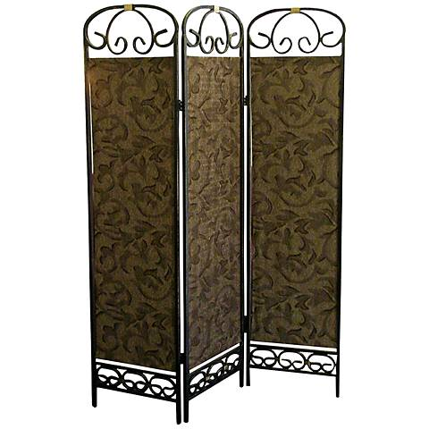 Durran Antique Gold 3-Panel Room Divider
