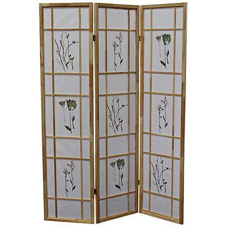 Umi Natural 3-Panel Shoji Room Divider Screen
