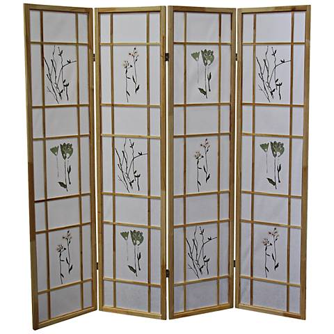 Umi Natural 4-Panel Shoji Room Divider Screen