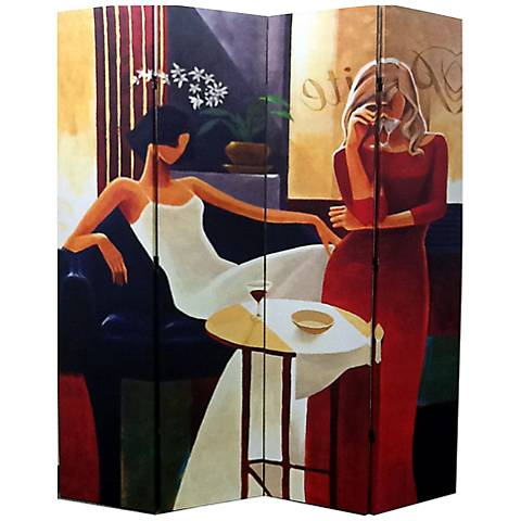 Women in Fashion 4-Panel Canvas Room Divider