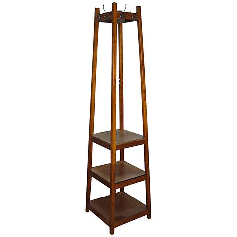 Westley Brown 3-Tier Shoe Tower Coat Rack