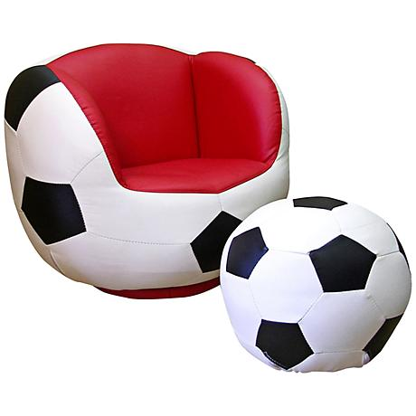 Athletik Swiveling Soccer Chair with Ottoman