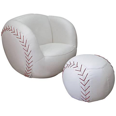 Athletik Swiveling Baseball Chair with Ottoman