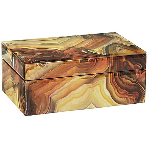 Marble Pattern Jewelry Box with Mirror