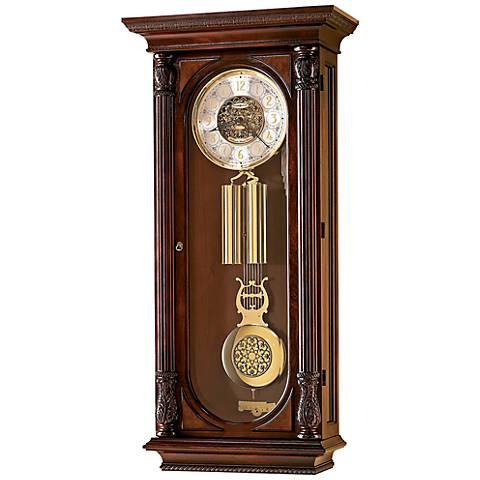"Howard Miller Stevenson Cherry 44 1/4"" High Wall Clock"