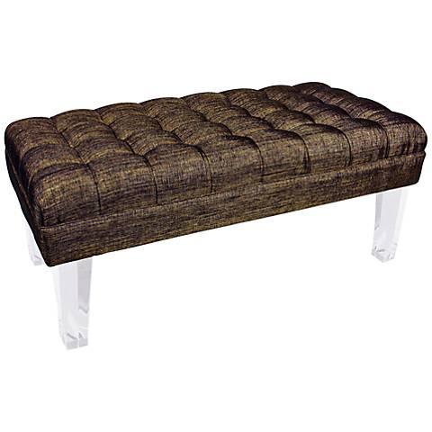 Rojo 16 Monte Carlo Brown Fabric Bench